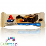 Atkins Snack Caramel Double Chocolate Crunch Bar - Carbohydrate low caramelized chocolate bar with chocolate caramel filling
