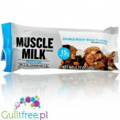 Muscle Milk Double Rocky Road flavor high protein bar