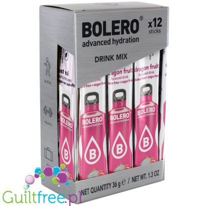 Bolero Sticks ze stewią, Dragon Fruit, 12 saszetek na 6L