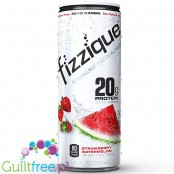 Fizzique, Sparkling Protein Water, Strawberry Watermelon