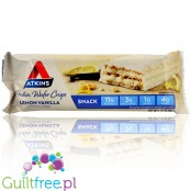 Atkins Wafer Crisps, Lemon Vanilla protein waffer in vanilla coating