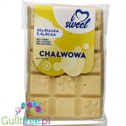 iLoveSweet Chalva sugar free protein white chocolate with peanut butter