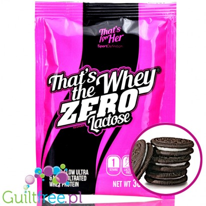 That's The Whey Zero Lactose Cookies & Cream