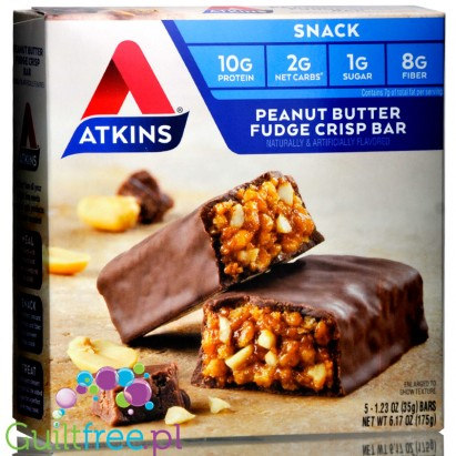 Atkins Snack Peanut Butter Fudge Crisp box