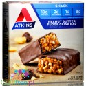 Atkins Snack Peanut Butter Fudge Crisp protein bar, box of 5 bars