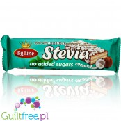 Bg Line chocolate covered wafer with coconut, sweetened stevia
