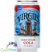 Virgil's Zero Sugar Free - Cola 12oz (355ml), natural sugar free, zero calorie drink with stevia and erythritol