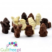 LCW Xmas sugar free chocolate figures - white, dark & milk chocolate