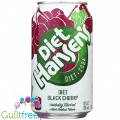 Hansens Diet Black Cherry Soda - 12oz