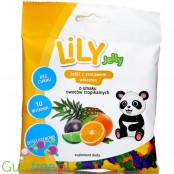 LiLY sugar free jellies with vitamins, tropical fruits flavors