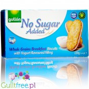 Gullón Whole Grains Breakfast Biscuits with yougurt filling - sugar free sandwich cookies