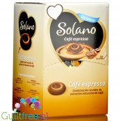 Solano Café Espresso sugar free coffee & milk caramels, display