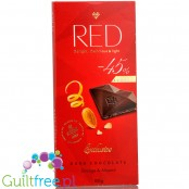 RED Chocolette no sugar added dark chocolate with almonds and orange, 45% less calories