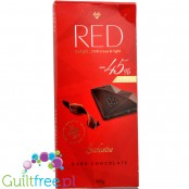 RED Chocolette no sugar added dark chocolate, 45% less calories