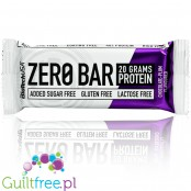 Biotech Zero Bar Chocolate - Plum  - lactose freeprotein bar