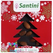 Santini Christmas - sugar free dark chocolate with almonds, sweetened with xylitol, 72% coca