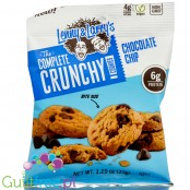 Complete Crunchy Cookie Chocolate Chip, protein enriched vegan cookies, peg bag