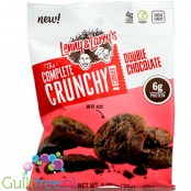 Lenny & Larry Complete Crunchy Cookie Double Chocolate, protein enriched vegan cookies, peg bag