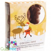 Cocoa Libre Milk Chocolate Alternative Santa & Reindeer, with orange oil