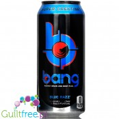 VPX Bang Blue Razz sugar free energy drink with BCAA, SuperCreatine and CoQ10