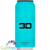 3D Blue (Blue Raspberry) sugar free energy drink