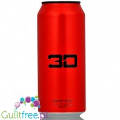 3D Red sugar free energy drink