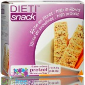 Dieti Snack Fluffy Toffee & Pretzel low calorie crispy protein bar