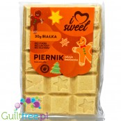 iLoveSweet Gingerbread sugar free protein white chocolate with peanut butter