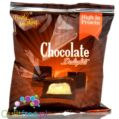 Minis crispy caramel bites protein smothered in milk chocolate - Protein-enriched snack with caramelized mass of milk chocolate