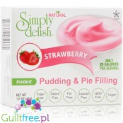 Simply Delish Sugar Free Pudding and Pie Filling, Instant, Strawberry