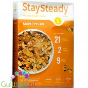 Nutritious Living StaySteady Cereal, Maple Pecan - Breakfast cereals enriched with protein and fiber, with pecan nuts