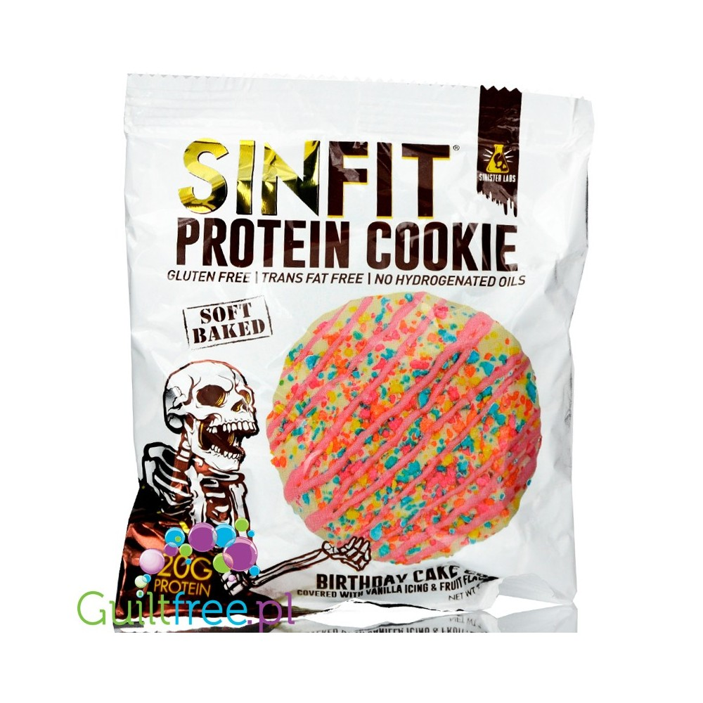 Sinister Labs Sinfit Protein Cookie Birthday Cake Loading Zoom