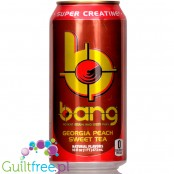 VPX Bang Georgia Peach Sweet Tea sugar free energy drink with BCAA, SuperCreatine and CoQ10