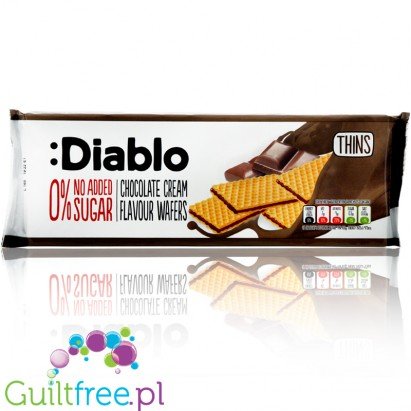 Diablo no added sugar chocolate cream waffers