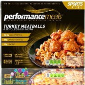 Performance Meal - Tray - Turkey Meatballs