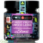 Pure & Good sugar free forrest fruit jam sweetened only with stevia and erythritol