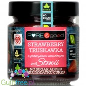 Pure & Good sugar free strawberry jam sweetened only with stevia and erythritol