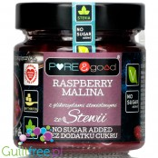 Pure & Good sugar free rapberry jam sweetened only with stevia and erythritol