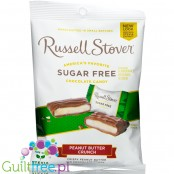 Russel Stover Peanut Butter Crunch sugar free stuffed chocolate candies, new formula with stevia and no sucralose