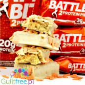 Battle Bites Frosted Carrot Cake twin protein bar cubes