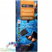 Pure & Good sugar free dark chocolate with hazelnuts sweetened only with stevia and erythritol