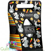 EASTER Montezuma's Dark Chocolate Absolute Black Egg 100% Cocoa Solids with Cocoa Nibs 250g