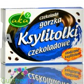 Ksylitolki, dark chocolate sugar free buttons with xylitol