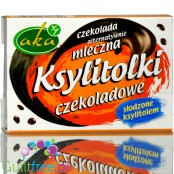 Ksylitolki, milk chocolate vegan alternative sugar free buttons with xylitol