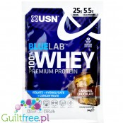 USN Blue Lab Whey Caramel Chocolate protein powder 34g