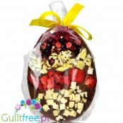 Santini Easter Egg, sugar free milk chocolate with dried fruits