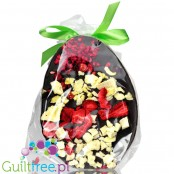 Santini Easter Egg, sugar free dark chocolate with xylitol and fruits