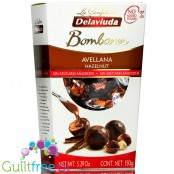 La Confiteria Delaviuda no sugar added milk chocolate pralines with hazelnut filling