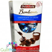 La Confiteria Delaviuda no sugar added milk chocolate pralines with creamy filling