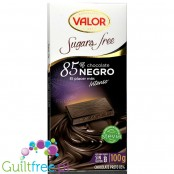 Valor sugar free dark chcolate with stevia 85% cocoa